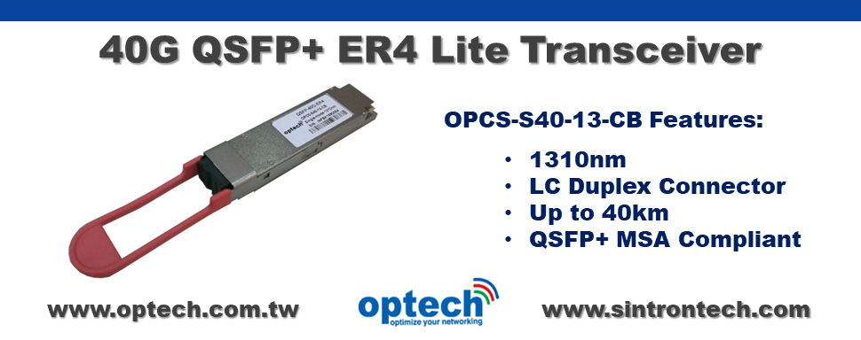 100G QSFP28 ER4 Lite Transceiver