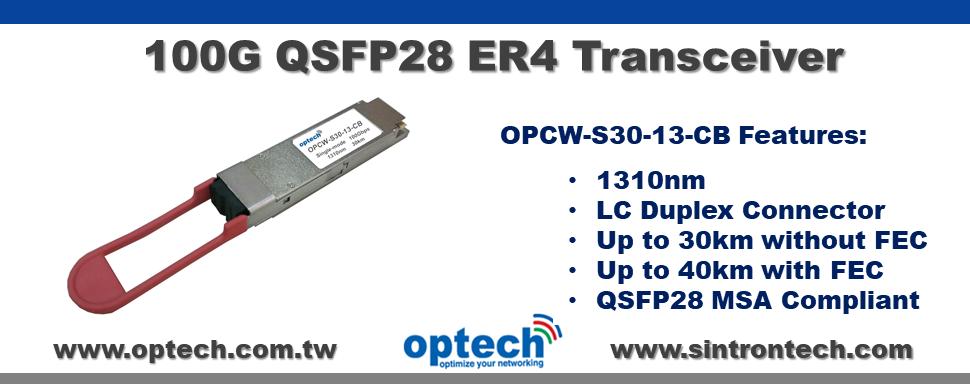 100G QSFP28 ER4  Transceiver
